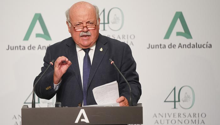 El consejero de Salud, Jesús Aguirre, tras el Consejo de Gobierno