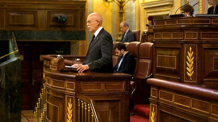 El diputado gaditano Agustín Rosety defiende la enmienda al Tratado Fiscal sobre Gibraltar