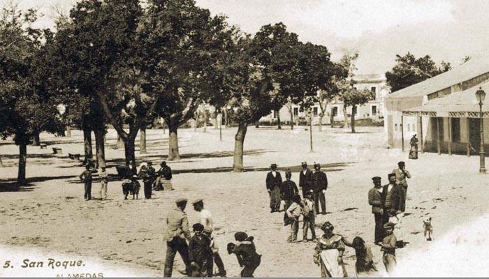 La Alameda en una foto de Pérez Gavira. Año 1906