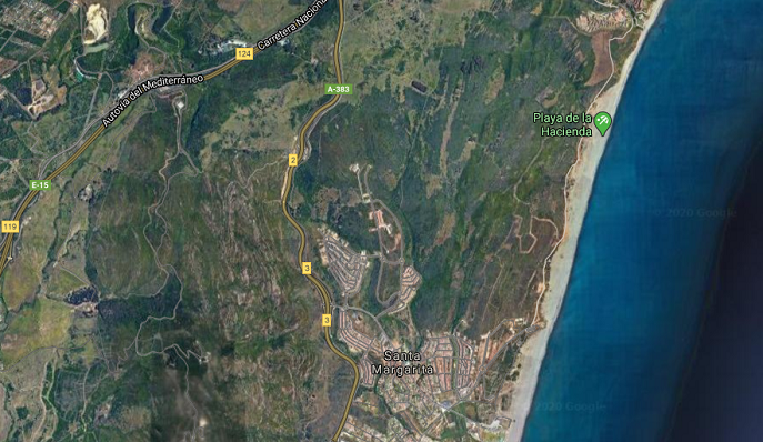 Una imagen de satélite de la zona afectada