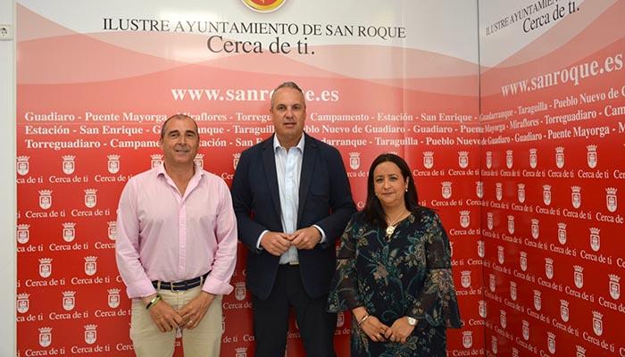 De izquierda a derecha, Serván, Ruiz Boix y Collado.