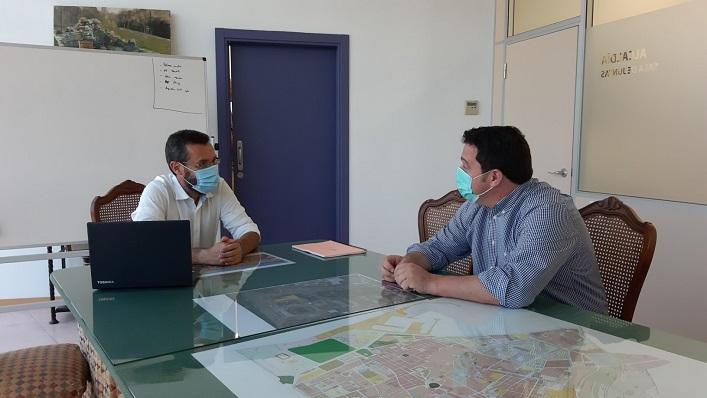 Juan Franco y Diego Canal, este miércoles en plena reunión