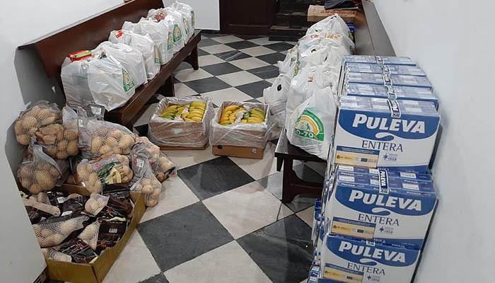 Cáritas de San Roque se vuelca en la ayuda alimentaria