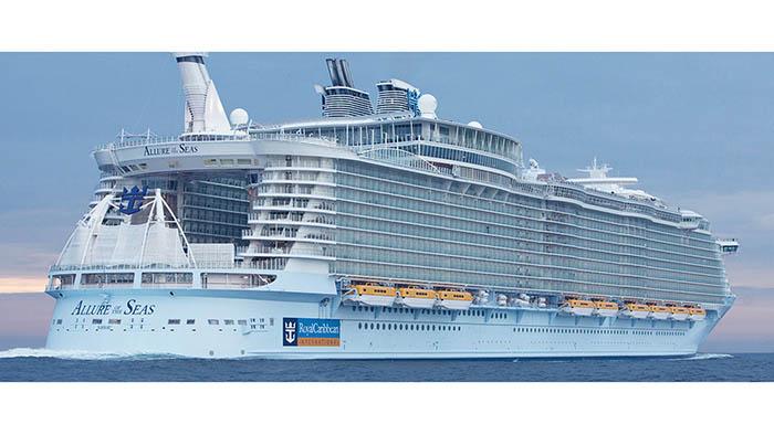 'Allure of the Seas', uno de los dos cruceros que llegan hoy