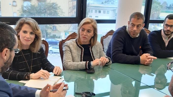 Ana Mestre visitó este jueves el Ayuntamiento de La Línea