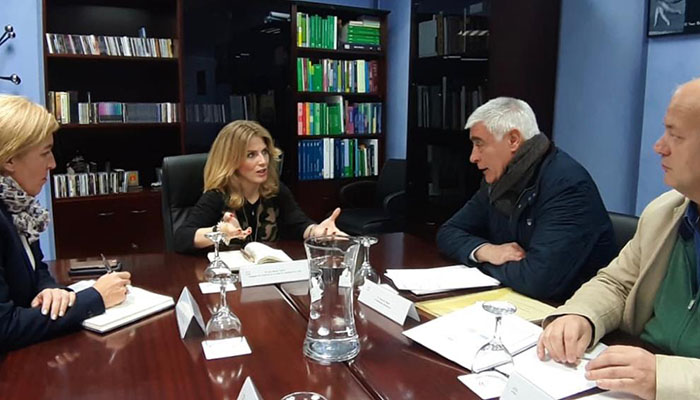 Imagen de la reunión desarrollada en la sede del Gobierno de la Junta de Andalucía en Algeciras