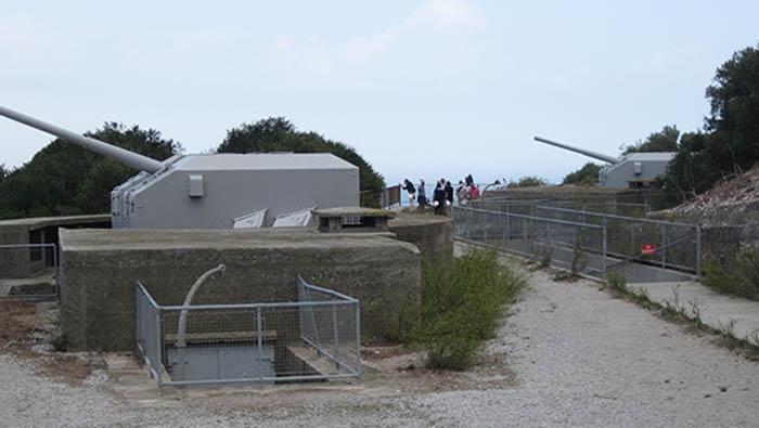 Antigua batería del ejército británico en Gibraltar. Foto APG