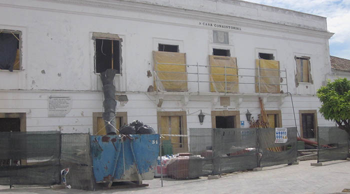 Obras actuales en la antigua Casa Consistorial