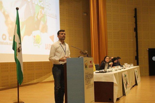 El líder de IU en Andalucía, Antonio Maíllo, en un acto reciente