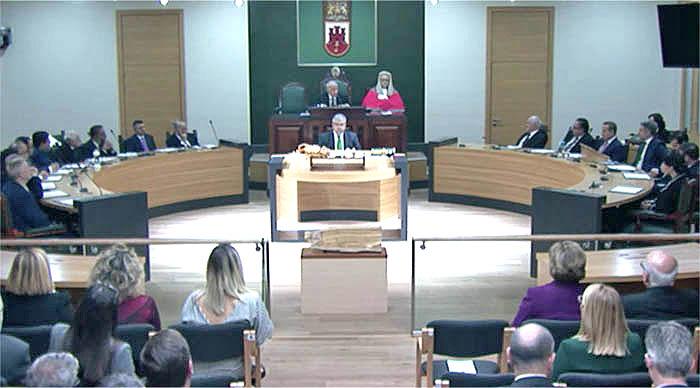 Sesión constitutiva del Parlamento de Gibraltar en esta legislatura