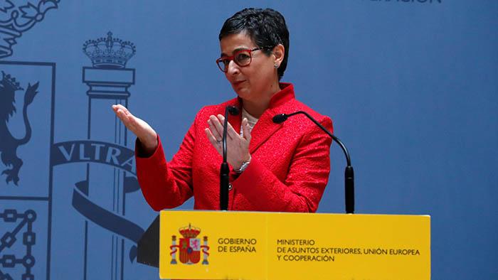 La ministra española González Laya