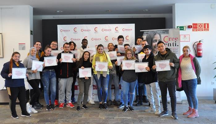 La Cámara de Comercio da trabajo a más de 150 jóvenes con el programa PICE