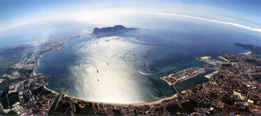 Vista aérea del Campo de Gibraltar