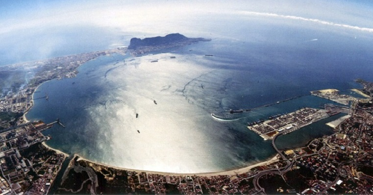 Imagen aérea de la Bahía de Algeciras