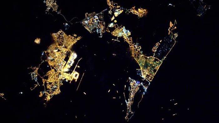 La Bahía de Algeciras desde la Estación Espacial