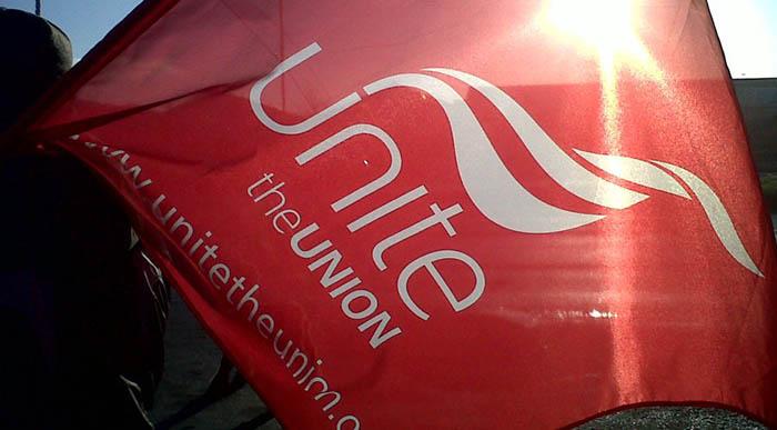 Bandera del sindicato gibraltareño Unite