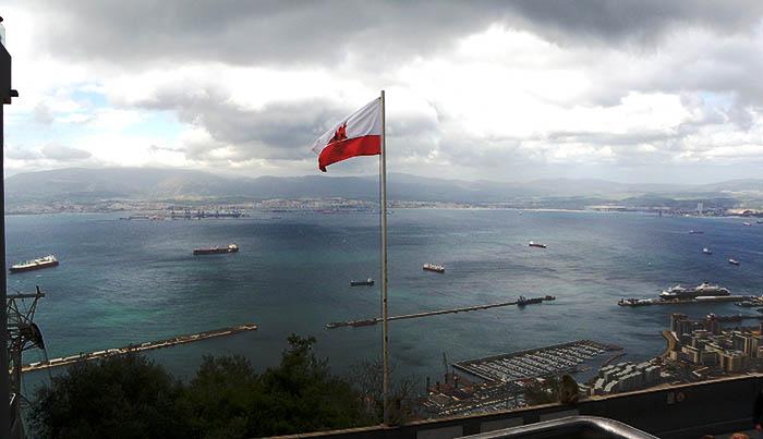 Bandera de Gibraltar. Foto NG