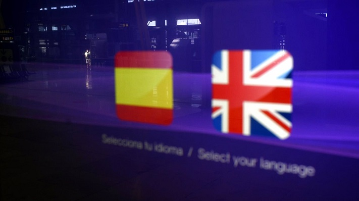 Banderas de España y Reino Unido. Foto: NG