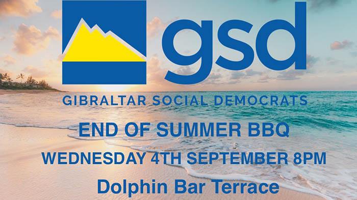 Cartel anunciador de la barbacoa del GSD para este año