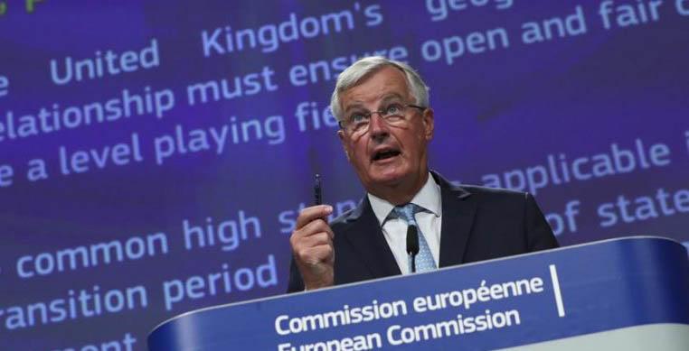 Michel Barnier volvió a Londres el fin de semana. Foto EFE