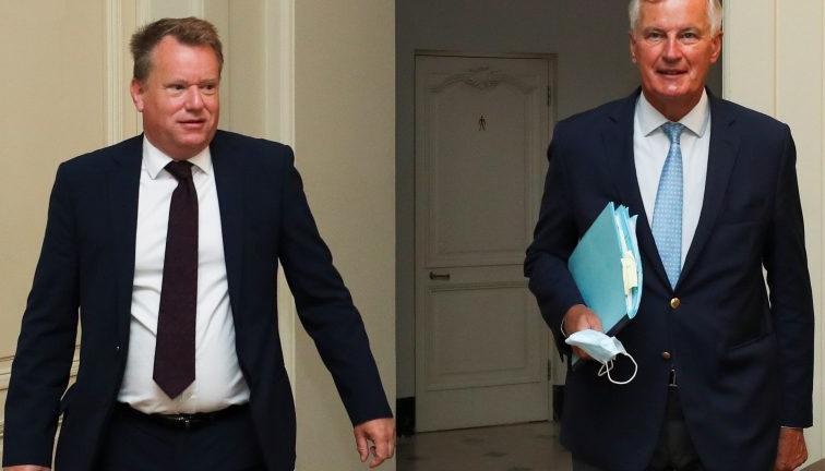 Barnier y David Frost