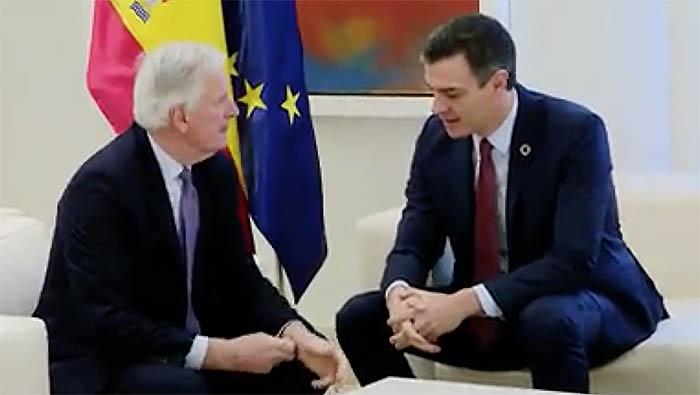 Michel Barnier y Pedro Sánchez