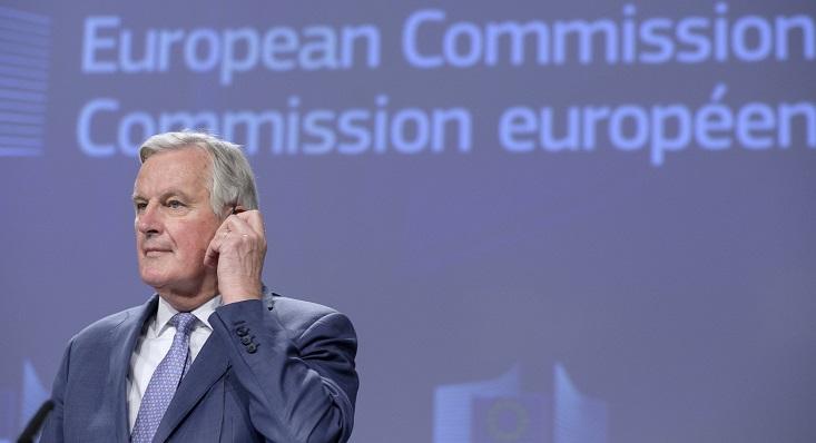 Michel Barnier, esta mañana en Bruselas