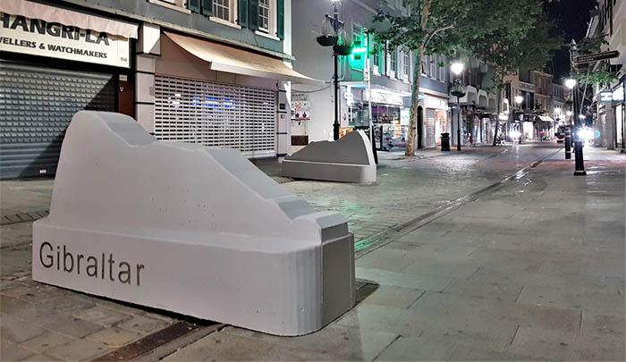 Las nuevas barreras de protección. Foto InfoGibaltar