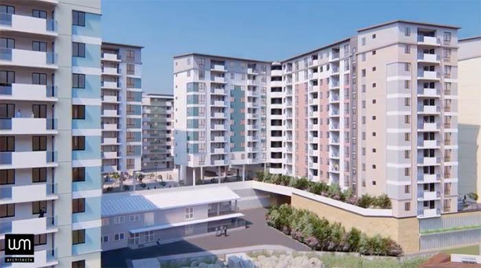 Imagen promocional de las viviendas de Bob Peliza Mews