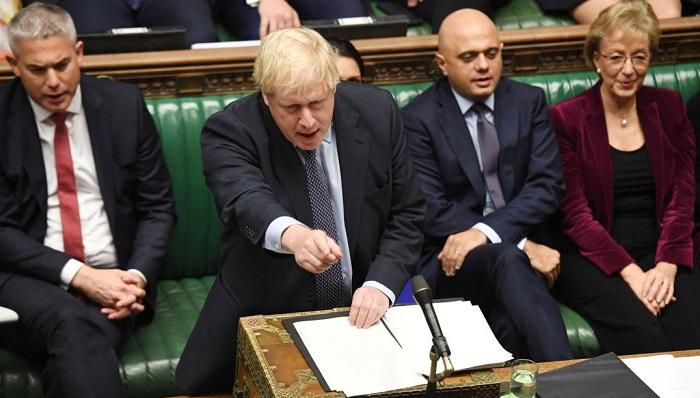 Boris Johnson, en el Parlamento británico