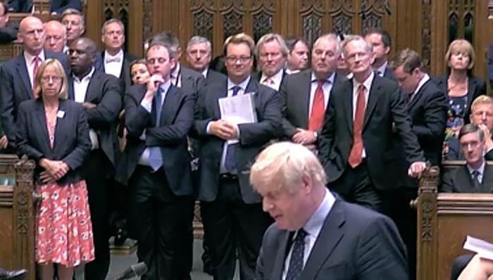 Boris Johnson, en los Comunes, durante el periodo legislativo anterior