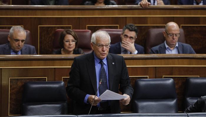 El ministro de Asuntos Exteriores, Josep Borrell, en el Congreso de los Diputados