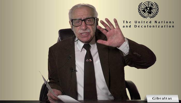 Bossano en una intervención en el Comité Descolonizador de la ONU