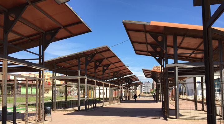 Una imagen reciente del lugar en el que se ubicaré el Mercado de La Línea. Foto: NG