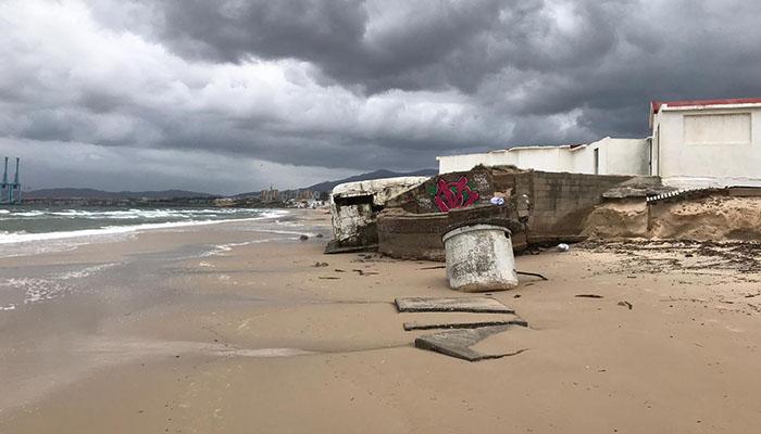 Estado del búnker de Algeciras, cuyo estado lamentan desde la asociación