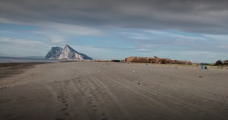 Playa del Burgo, en La Línea de la Concepción