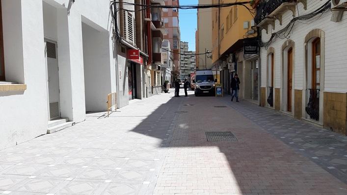 Una de las calles ya peatonalizadas en el centro de La Línea