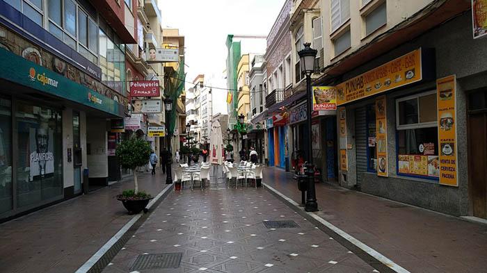 Calle comercial de La Línea
