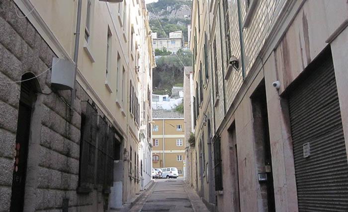 Callejón del Gibraltar antiguo