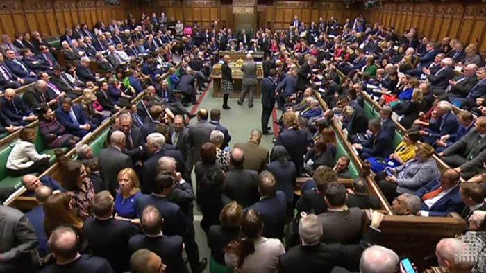 Sesión en la Cámara de los Comunes