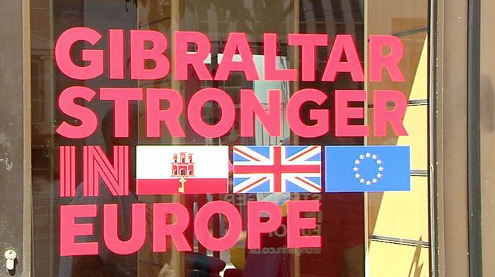 Imagen de la campaña en Gibraltar a favor de la permanencia en Europa