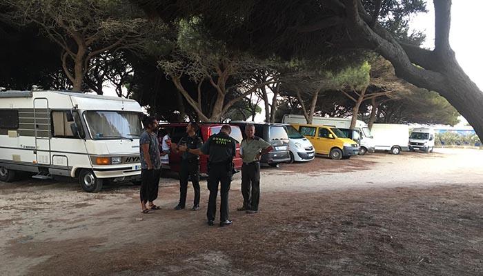 Un momento de la operación conjunta desarrollada en Tarifa