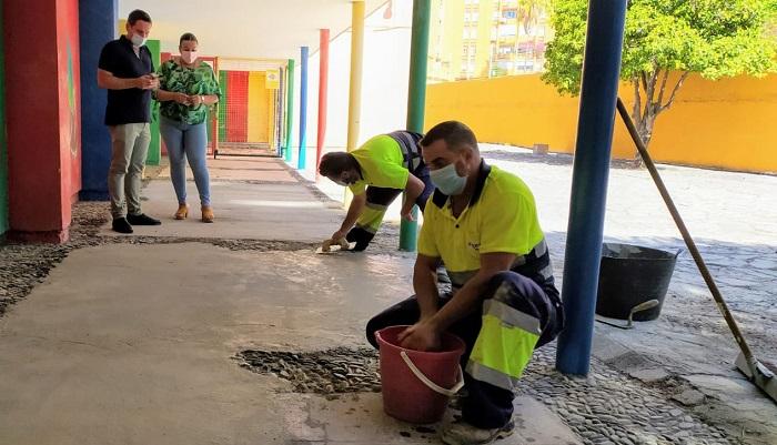 La reparación del colegio Campo de Gibraltar cumple los plazos