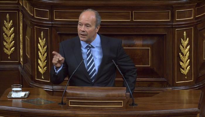 Juan Carlos Campo, en el Congreso de los Diputados
