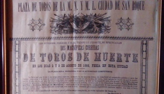 Cartel de la última tarde de Tornero (Ayuntamiento de San Roque)