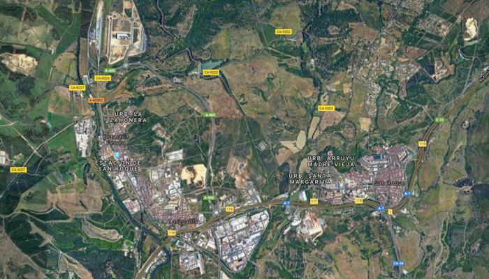 Imagen aérea de San Roque