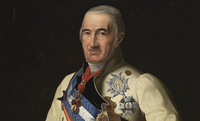 El general Castaños según la pintura de José Madrazo en el Museo del Prado