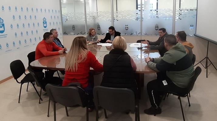 La reunión se ha celebrado esta mañana en el Ayuntamiento de La Línea