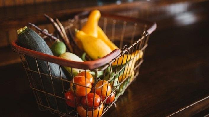 Una cesta de la compra