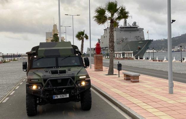 La Infantería de Marina despliega también en Ceuta desde el buque 'Galicia'. Foto ORP / CG Flota